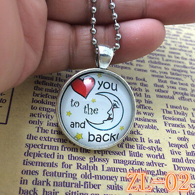 2015 HOT Necklaces I Love You To The Moon And Back Jewellery Gifts for Her ZL02.