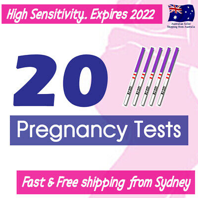 20x Early Pregnancy Tests hCG Urine Strips Fertility OPK HPT Kit +10 urine cups