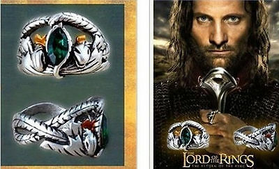 Hot Lord Of The Ring Crystal Ring Barahir Leopard Ring Men Jewelry size 7