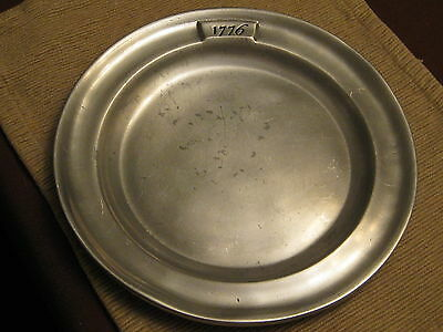 Vintage Wilton Metal 1776 Bicentennial Bread Dish/ Plate 9.75 inches in diameter