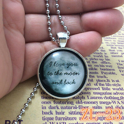 2015 HOT Necklaces I Love You To The Moon And Back Jewellery Gifts for Her ZL23.