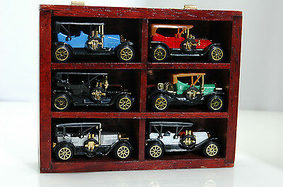 6 Mini Vintage Cars: Ford Model T-Simplex-Oakland-Buick-Packard-Pierce Arrow