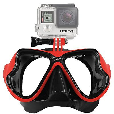 GoMax GoPro ® Scuba Diving Mask compatible for All GoPro ® Hero Red