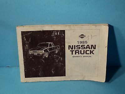 85 1985 Nissan Truck owners manual