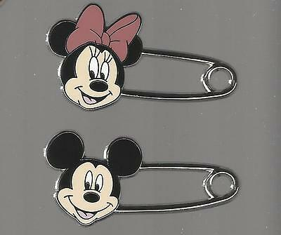 Disney pin - Mickey and Minnie Mouse - Safety Pins - Mickey Mouse Head Ears Icon