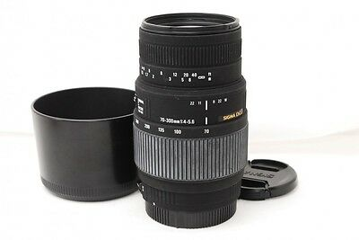SIGMA  70-300mm F/4-5.6 DG Macro for Canon w/Hood from Japan