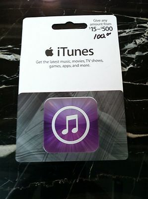 $100 Apple US ITunes Gift Card APP Store NEW!