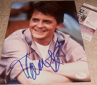MICHAEL J FOX SIGNED 8X10 PHOTO AUTOGRAPH JSA AUTH PROOF BTTF BACK TO THE FUTURE