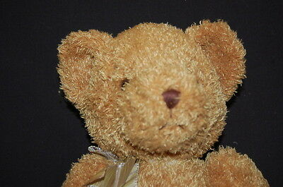 "AMBER GOLDEN BROWN TEDDY BEAR SITTING 14"" RUSS Plush Stuffed Animal Lovey Toy"