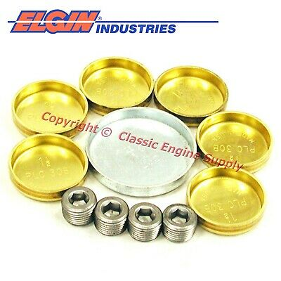 New EP117BR Elgin Brass Freeze Plug Set AMC Jeep 290 304 343 360 390 401