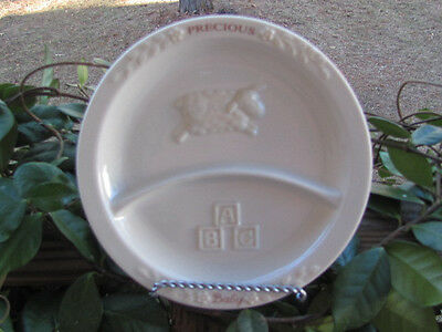 Russ Berrie~Precious Baby~Childs Divided Plate~White