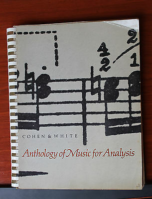 Anthology of Music for Analysis by Cohen & White 1965 paperback 469 pages