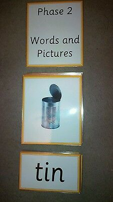 Phase 2 Phonics - Words and Pictures Matching Game - Literacy Resource -EYFS/KS1