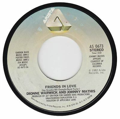 """Dionne Warwick / Johnny Mathis - Friends In Love / What Is This 7"""" Arista 1982"""