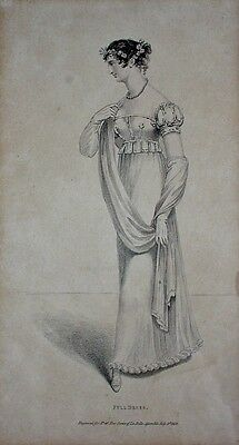 FULL DRESS - Kupferstich 1. July 1813 - No. 46 - New Series of LA BELLE ASSEMBLE