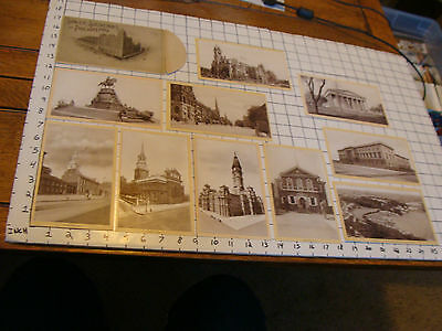 Singer Souvenirs of Philadelphia, set of 10 cards in envelope early 1900's CLEAN