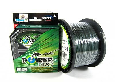 Power Pro Braided Spectra Fishing Line 40lb by 500yds Green