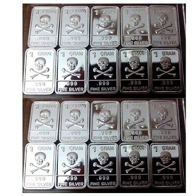 Lot of 20 X 1 Gram  .999  Fine Silver Bar / YEWP842