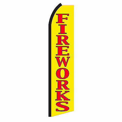 FIREWORKS Advertising Sign Swooper Feather Flutter Banner Flag Only Special SA