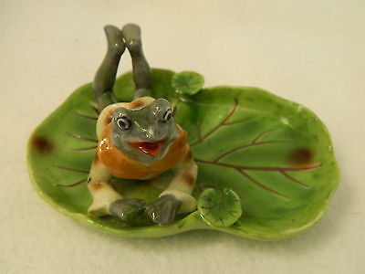 Vintage Ceramic Frog Ashtray from Occupied Japan