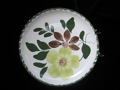 "SOUTHERN POTTERIES BLUE RIDGE - DECORATIVE PLATE - 9.5"" DIAMETER  HAND PAINTED"