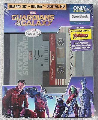 GUARDIANS OF THE GALAXY Blu-ray STEELBOOK Best Buy Exclusive 3D/2D NEW Sealed