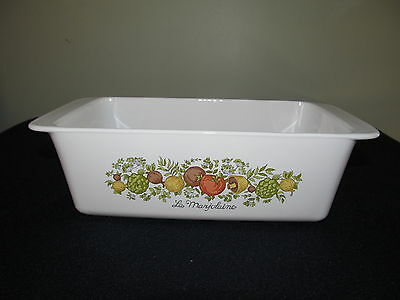 VINTAGE CORNING WARE SPICE OF LIFE BREAD/MEAT LOAF PAN 9X5X3 USA