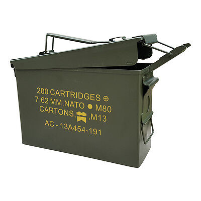 New Stenciled 30 Cal M19A1 Mil Spec Empty Ammo Can Empty Canister