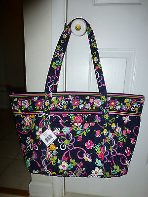 Brand New with Tags Vera Bradley Miller Bag in Ribbons Breast Cancer Pattern