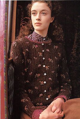 Sasha Kagan Tiny Flower Cardigan from A Yorkshire Fable in Yorkshire Tweed 4 ply