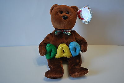 NWT TY Beanie Babies - Dad Bear - June 21, 2004 - Retired