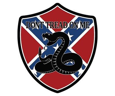 "DONT TREAD ON ME Decal 3"" Southern Confederate REBEL FLAG Vinyl Sticker SET OF 2"
