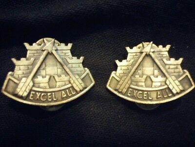 US ARMY (DUI) Unit Crest 2ND SUPPORT COMMAND (EXCELL ALL) Set of 2 Pins (1 pair)