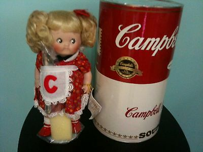Authentic Campbell Kids soup porcelain doll Mother's Helper 1994 NRFB