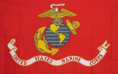 US Marine Corps 3x5 Flag Banner United States Armed Forces Semper Fidelis AUCT