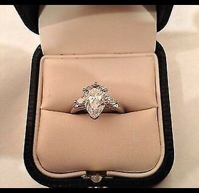 2.58CT PEAR CUT DIAMOND ENGAGEMENT RING IN PLATINUM SETTING! APPRAISED  $31,000!