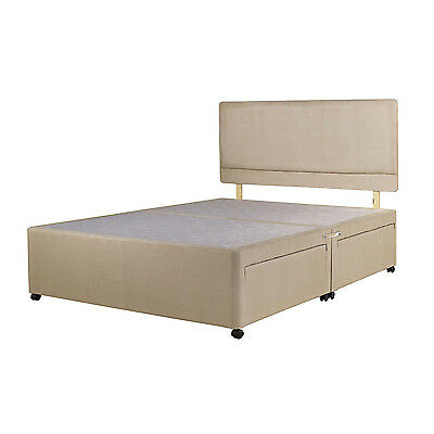 SUEDE DIVAN BED BASE, Double, 4ft, Small Single, 3ft, 5ft, 6ft Super King Size
