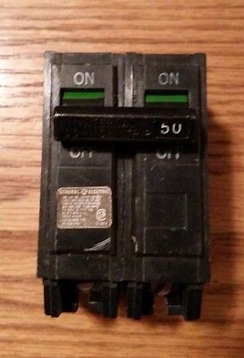 General Electric Ge Circuit Breaker 50 Amp 120/240V 2 Pole Thql2150