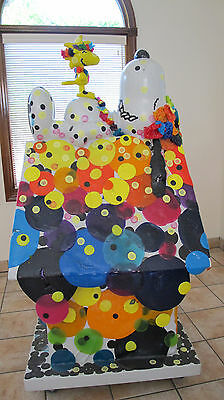 """TOM EVERHART DOGHOUSE STATUE """"EVERHART BY SNOOPY"""" 2004 ONE OF A KIND VERY RARE"""