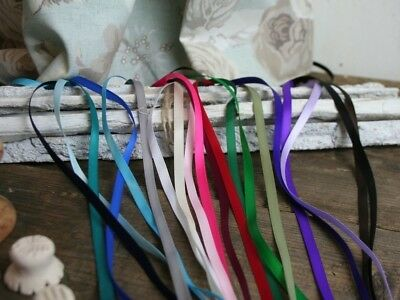 6mm Satin Ribbon, All colours, Thin ribbon Trim, 5 Metres, Craft, Wedding, Cards