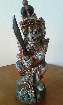 INDONESIAN Wooden Carved Statue of HANAMAN The Monkey God