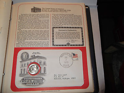 1979-D SUSAN B. ANTHONY 1st DAY ISSUE DOLLAR COIN & POSTMARKED DENVER, CO.