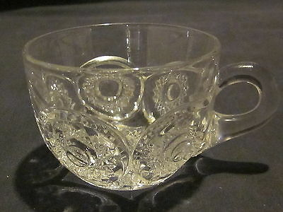 Heisey Sunburst Punch Cups Patterned Foot (3)