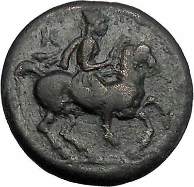 KRANNON in THESSALY 400BC Horseman Hydria Authentic Ancient Greek Coin i49156