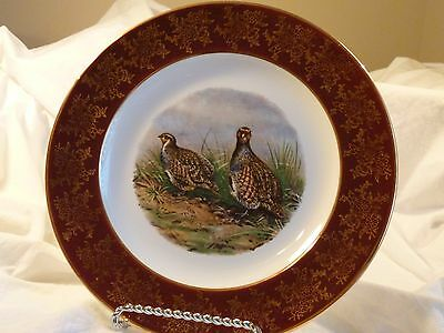 GROUSE 10'' COLLECTOR PLATE~WEATHER BY HANLEY~ENGLAND ROYAL FALCON WARE 1-77