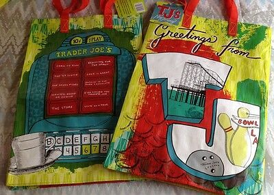 Trader Joe's Reusable Grocery Shopping Bag * New Jersey - Lot Of 2