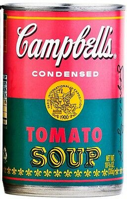 ANDY WARHOL CAMPBELL SOUP PINK CAN ONLY NEW UNOPENED 50th ANNIVERSARY