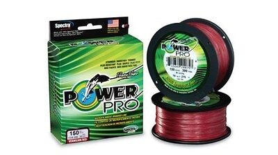 Power Pro Braided Spectra Fishing Line 40lb by 500yds Red