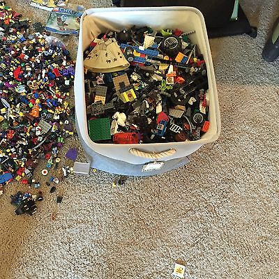 Lego Huge lot of 30 + Lbs. Pounds Bricks Various Pieces Wheels Minifigures Misc