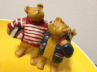 Annekabouke 2 bears1995  arm in arm ab009 decorative collectible figurine rare
